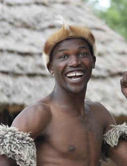 Dansende Zuid-Afrikaan