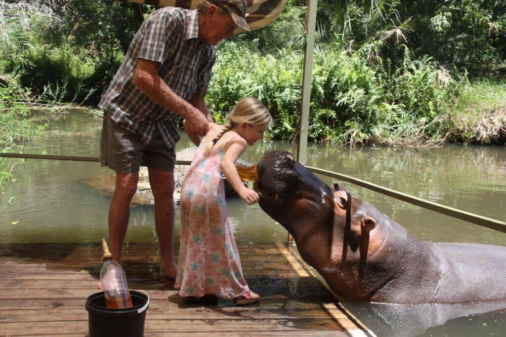 Jessica the Hippo with children