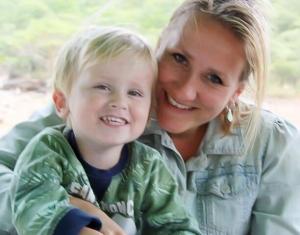 Kinderen op vakantie in Zuid Afrika