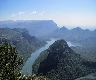 Uitzicht op Blyde River Canyon tijdens Huwelijksreis in Zuid-Afrika
