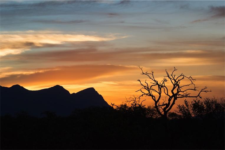 Zonsondergang - Zuid-Afrika
