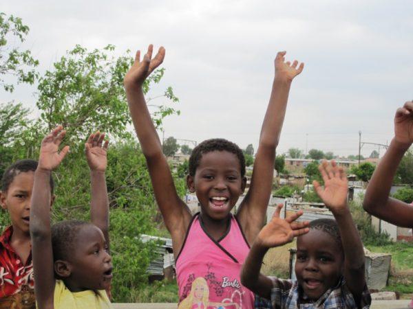 Kinderen in Soweto Johannesburg